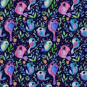 Cute birds pattern