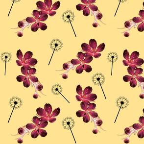 Wild Spring Floral - golden sand #1