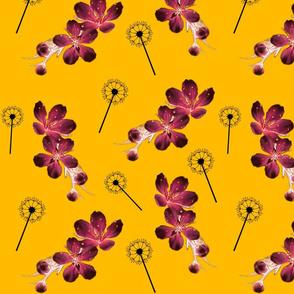 Wild Spring Floral - saffron #1
