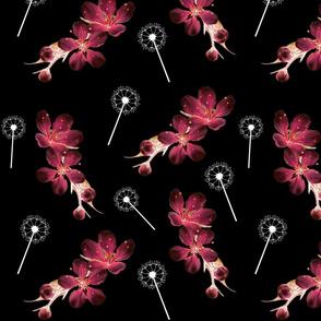 Wild Spring Floral - black