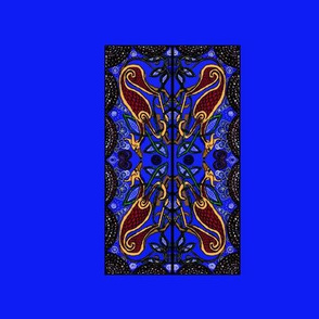 celtic hound 2-for collars-on Blue-ed