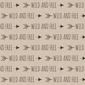 """.5"""" wild and free arrows - black on tan linen"""