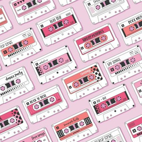 Cassette Tapes Pink