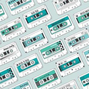 Cassette Tapes Blue