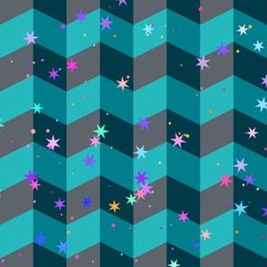 zig zag and stars