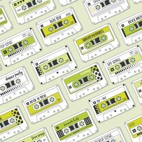 Cassette Tapes Green