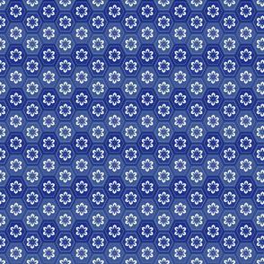 Flower Hexes - Indigo Blues