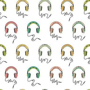 Headphones Warm Tones