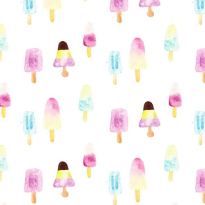 popsicles loose watercolor