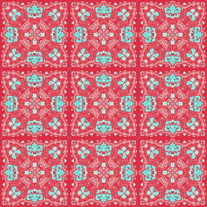 Roses Turquoise Tile