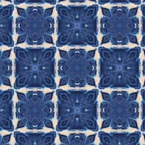 Shibori Tiles ~ Quilted (original worn version)