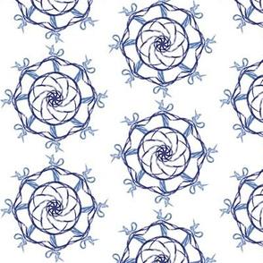 Shibori Spiral Half Drop