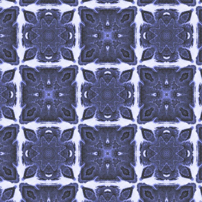Shibori Tiles ~ Quilted (brighter white/blue version)