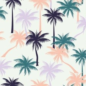 Tropical palms - baby cloth