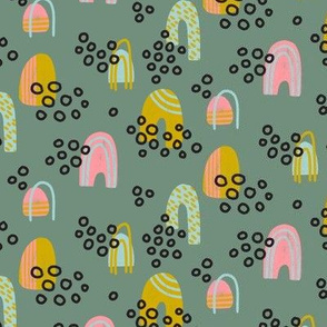 Playful Kids Pebbles & Hills - Sage Green
