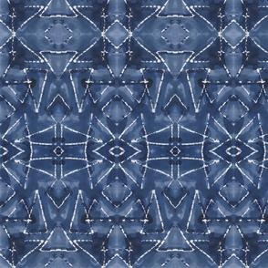 Shibori Triangles Indigo
