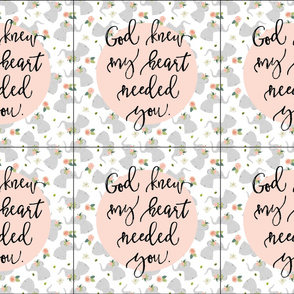 6 loveys: floral elephant + god knew my heart needed you