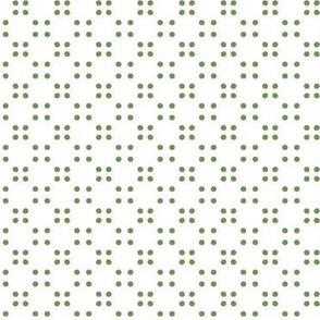 festival polka dot-green