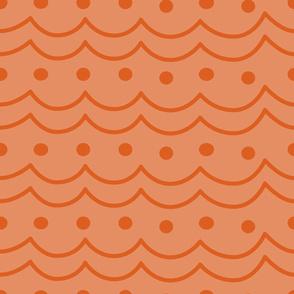 orange wavy dots