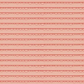 festive frilly stripe-strawberry peach