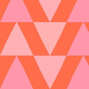 sweet triangles coral and pink