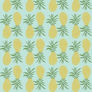 multi directional pineapple - sunbleached turquoise