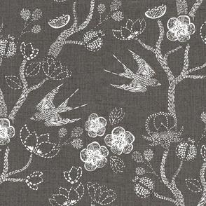 Shibori Garden {Grey/Linen}