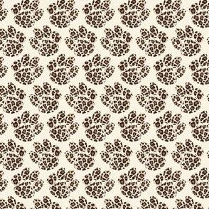 "Paws leopard cream 1"" size"