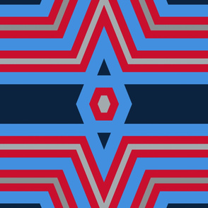 The Red the Blue the Navy and the Grays: Definitely Deco