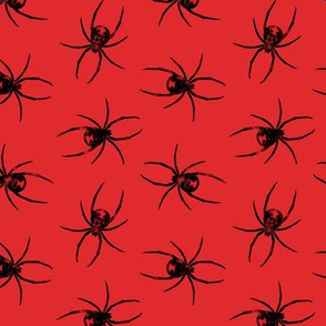 Black Widow Spiders - red - LAD19