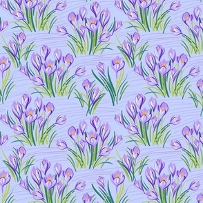 Spring Floral Pattern with Crocuses
