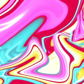 Neon Drip Painting