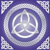 Silvery Purple Triquetra