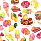 Food illustration 9x9
