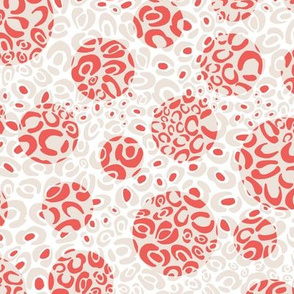 Coral white leopard dots texture