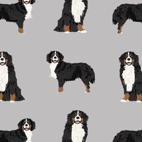 bernese mountain dog fabric - dog fabric, bmd, mountain dog, bernese dog fabric, grey
