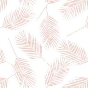Palm leaves - soft pink - summer - LAD19