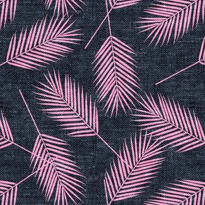 Palm leaves - hot pink and blue - summer - LAD19