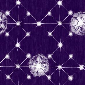 Shibori Stars | Eggplant