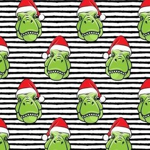 Santa Trex - Tyrannosaurus Dinosaur - Christmas -  black stripes (2) - LAD19