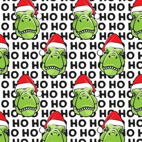 Santa Trex - Tyrannosaurus Dinosaur - Christmas - hohoho - black (2) - LAD19