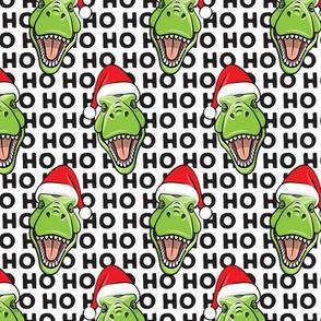 Santa Trex - Tyrannosaurus Dinosaur - Christmas - hohoho - black - LAD19