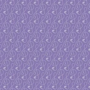 Treble Clef Headphones Purple