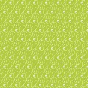 Treble Clef Headphones Green