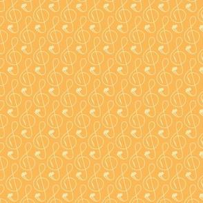 Treble Clef Headphones Yellow