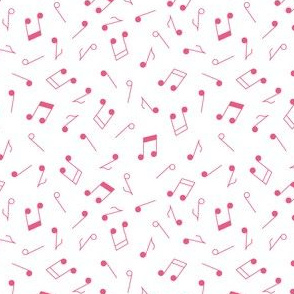 Music Notes Pink