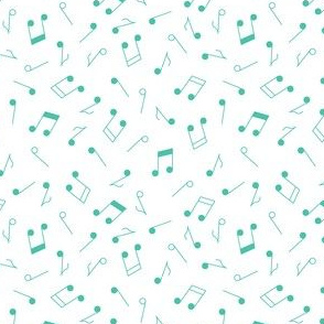 Music Notes Teal