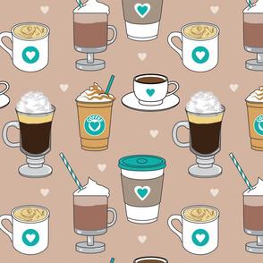 large teal coffee-drinks-on-brown