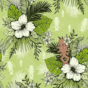 Risa Horga'hn Tropical Floral Green