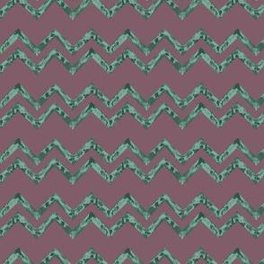 TULUM - Wavy stripes - purple & green